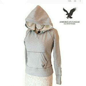 WMNS AMERICAN EAGLE OUTFITTERS RAGGED SEAM HOODIE
